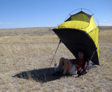 2009 Sheltering on the CDT through the hot Great Basin in Wyoming