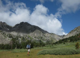 Looking up to the Bear Basin col