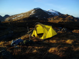 April 2010 Creag Ghuanach camp near the Grey Corries, Scotland