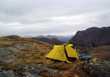 May 2010 Ardgour summit camp looking to Garbh Bheinn