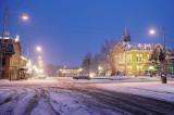 Winter Scene Downtown Albany