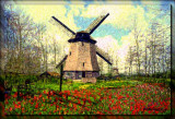 The Holland Windmill in Spring by Katra