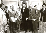 H.B. Cunningham,  (unkown), Coo Coo & Ula Faye Marlin, Tennessee Gov. Winfield Dunn, Bill Donoho, (unknown), Jim Donoho