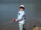 Caitlin fishing