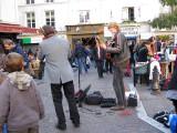 Singing at the Place de la Contrescarpe