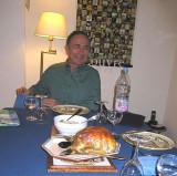 David in their Paris apartment