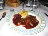 Duck breast with cassis sauce