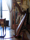 Josephine's harp in the Music Room