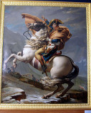 David's painting of Napoleon crossing the Alps