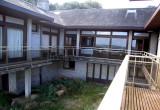 The balcony is U-shaped