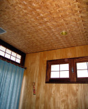 Room with bamboo ceiling