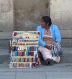 Vendor near the church entrance