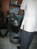 Chocolate being processed
