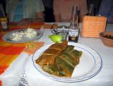 Delicious chicken tamales