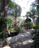 Courtyard of the home of Rodolfo Morales