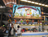A market featuring Welcome to Frida's Kitchen