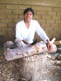 Zeny Fuentes, woodcarver & painter