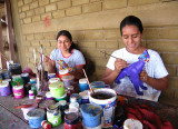 The women paint
