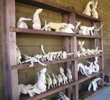 Carvings ready to be painted