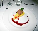 Lemon tart with oaxacan chocolate mousse