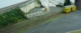 Port of Erin left side track re-alignment
