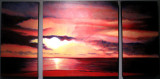 Red Sunset triptych