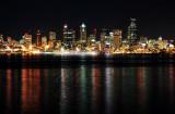 light streaks of Seattle