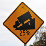 steep grade on Waipio road
