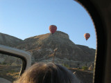 Getting out of car and seeing first balloons