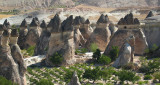 The fairy chimneys closer up