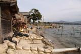 Beside the funaya (boat-houses) of Fuchū