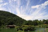 Cloud-streaked sky over Ritsurin-kōen