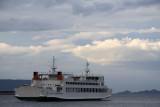 Departing ferry off Takamatsu port