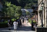Meiji-Mura street busy with tourists