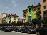 Traffic and bright colors on Bulevardi Zogu I