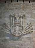 Crest on the outside of the museum
