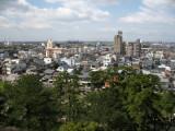Skyline of Okazaki from the castle