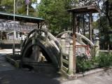 Old ornamental stone bridge at Haritsuna-jinja