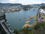View up the Kiso-gawa from the donjon