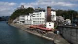 Kiso-gawa view with hilltop Inuyama-jō