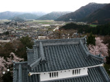 View over Ōno below with adjacent tower