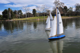 RC boat at El Dorado park