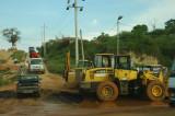 Muddy roads and heavy machinery