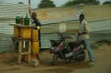 Filling up on petrol, no queue