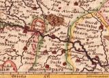 detail oude kaart uit 1631 met Nieuwstadt