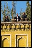 Uigurs musicians in Id Kah mosque