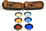 Rolleiflex R II Color Correction Filter Set: B-2, B-5, B-11, & R-2, R-5, R-11 filters