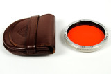 Rolleiflex R II Orange Filter and Leather Case