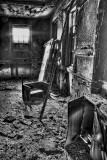9252 - after the fire - b&w version