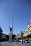 O'Connell Street with the Millennium Spire and statue of Jim Larkin